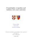 G-quadruplex recognition and isolation with small molecules
