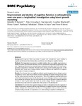 Improvement and decline of cognitive function in schizophrenia over one year: a longitudinal investigation using latent growth modelling.