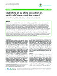 Establishing an EU-China consortium on traditional Chinese medicine research
