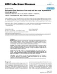 Estimates of the duration of the early and late stage of gambiense sleeping sickness