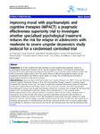 Improving Mood with Psychoanalytic and Cognitive Therapies IMPACT: A pragmatic effectiveness superiority trial to investigate whether specialised psychological treatment reduces the risk for relapse in adolescents with moderate to