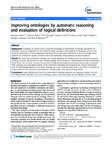 Improving ontologies by automatic reasoning and evaluation of logical definitions