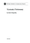 Nostratic Dictionary - Third Edition