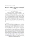 Analytical solutions of compacting flow past a sphere