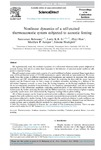 Nonlinear dynamics of a self-excited thermoacoustic system subjected to acoustic forcing