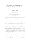Loss analysis of thermal reservoirs for electrical energy storage schemes