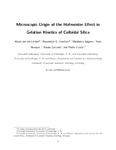 Microscopic Origin of the Hofmeister Effect in Gelation Kinetics of Colloidal Silica
