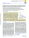Equilibrium Molecular Thermodynamics from Kirkwood Sampling