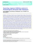 Improving response inhibition systems in frontotemporal dementia with citalopram