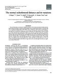 The normal ischiofemoral distance and its variations