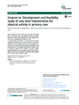 Erratum to: Development and feasibility study of very brief interventions for physical activity in primary care