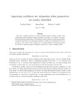 Improving confidence set estimation when parameters are weakly identified