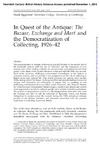 In Quest of the Antique: $	extit{The Bazaar, Exchange and Mart }$ and the Democratization of Collecting, 1926–42