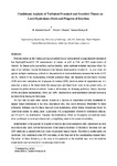Conditional analysis of turbulent premixed and stratified flames on local equivalence ratio and progress of reaction