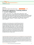Mutational signatures of ionizing radiation in second malignancies
