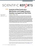 Analysis of the Conduction Mechanism and Copper Vacancy Density in p-type Cu$ {2}$O Thin Films