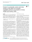 Erratum to: systematic review and meta-analysis of the effect of increased vegetable and fruit consumption on body weight and energy intake
